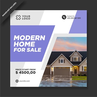 Casa moderna in vendita design di promozione instagram