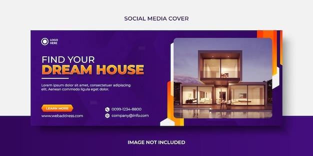 Banner di social media vendita casa moderna