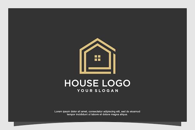 Concetto minimalista di design del logo della casa moderna vettore premium parte 2