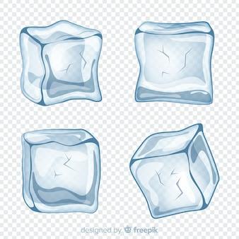 Collezione moderna di cubetti di ghiaccio