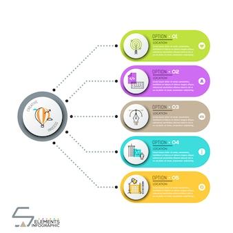 Modello di progettazione infografica moderna
