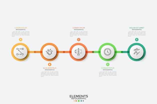 Modello di progettazione infografica moderna.