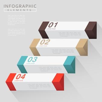 Design moderno infografica con elementi geometrici 3d