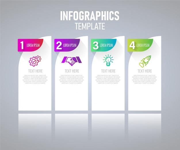 Elementi di infografica moderna vector design, modello di grafico con passaggio. illustrazione vettoriale.
