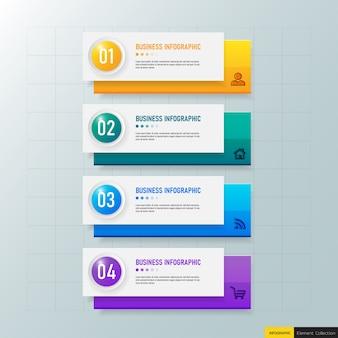 Opzioni del modello 4 di infografica moderna. Vettore Premium