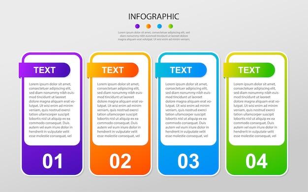 Progettazione di sfondo modello infografico moderno eps 10