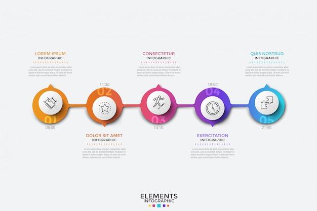 Modello moderno di infografica, cronologia