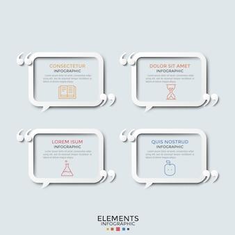 Modello moderno di infografica Vettore Premium