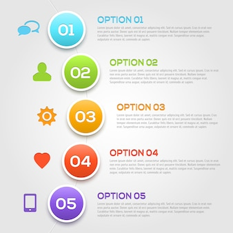 Modello moderno di opzioni di infographics.