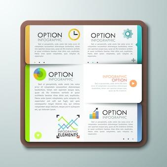 Modello di infografica moderna con il libro