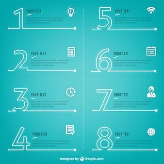 Processo inforgraphics moderni