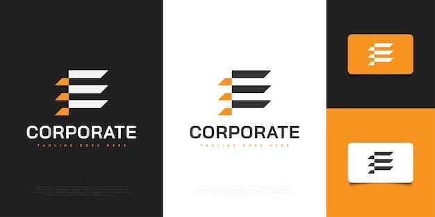 Modello moderno di progettazione del logo della lettera iniziale e. simbolo grafico dell'alfabeto per l'identità aziendale aziendale