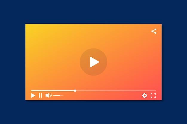 Lettore video con interfaccia moderna.