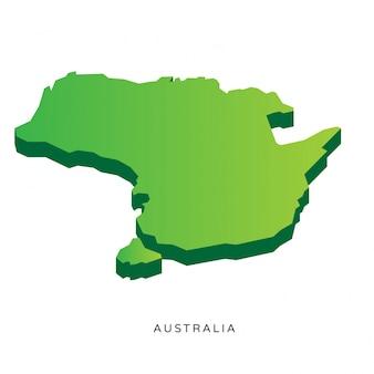 Mappa isometrica moderna dell'australia