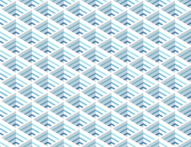 Modello senza cuciture blu griglia isometrica moderna
