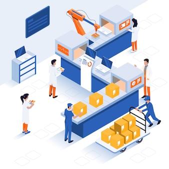 Illustrazione isometrica moderna - concetto industriale