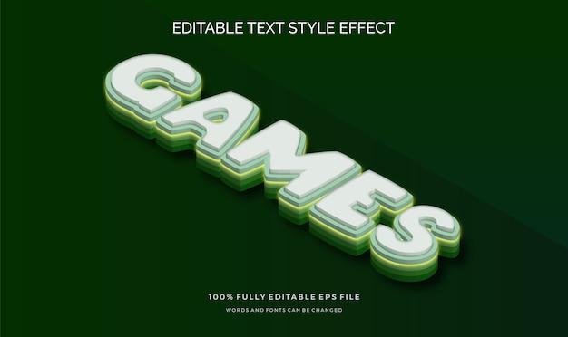 Effetto stile testo isometrico moderno