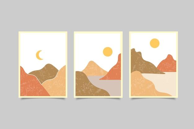 Collezione di copertine moderne per paesaggi