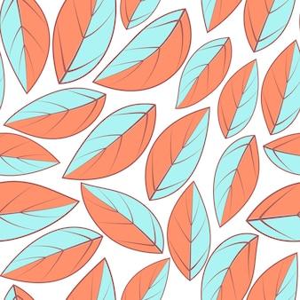 Modello moderno dell'illustrazione della foglia. sfondo tropicale con foglie. sfondo ripetuto. reticolo senza giunte di illustrazione vettoriale. design astratto esotico moderno. modello alla moda per il design.