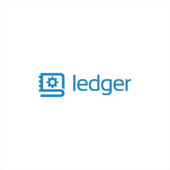 Modello di progettazione del logo del software di contabilità moderna