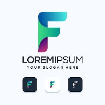 Moderna lettera f logo illustrazione