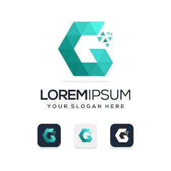 Modello di logo moderno lettera g