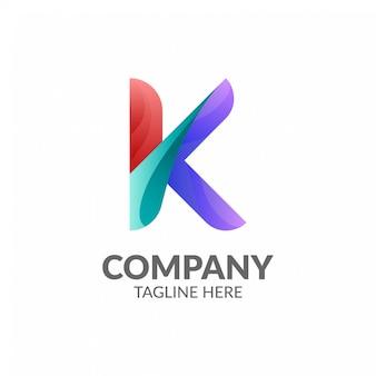 Logo moderno lettera k.
