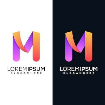 Design del logo moderno lettera r.