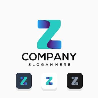 Design moderno del logo della lettera z