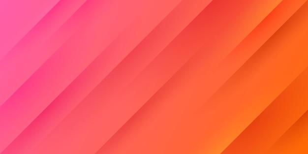 Sfondo sfumato rosa e arancione rosso chiaro moderno con linee e trama a strisce diagonali.