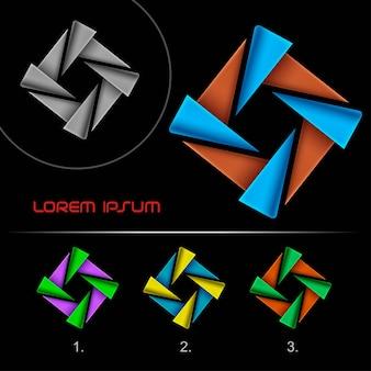 Modello di disegno astratto di affari logo moderno, logotipo di infinito hi tech, elemento di modello di disegno di icona logo aziendale