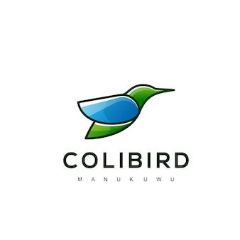 Modello di progettazione di uccelli colorati logo moderno modern