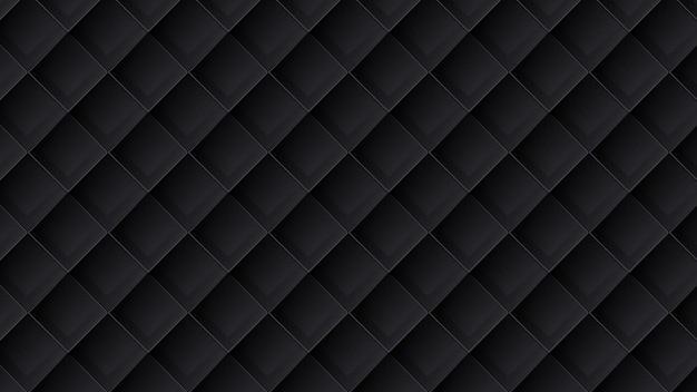 Motivo geometrico 3d di lusso moderno in nero