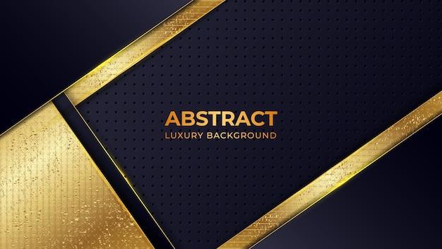 Modello di sfondo di lusso moderno con motivo dorato