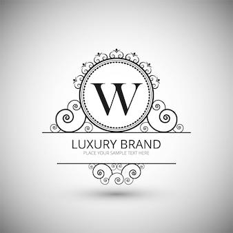 Sfondo di marchio di lusso moderno logo