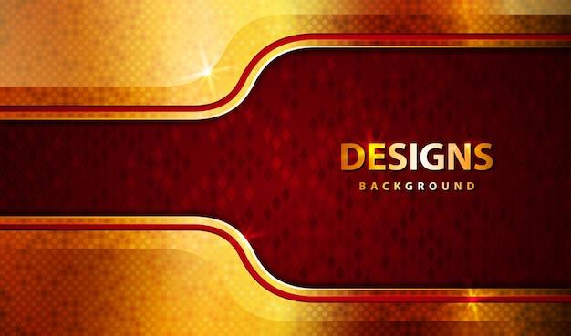 Fondo astratto di lusso moderno oro e rosso