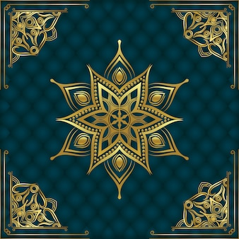 Sfondo di mandala ornamentale di lusso moderno