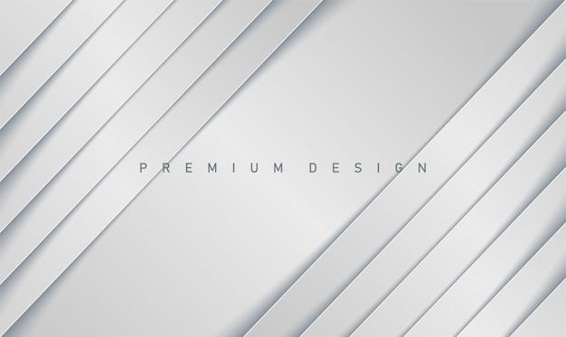 Sfondo di carta grigio realistico di lusso moderno con strisce diagonali