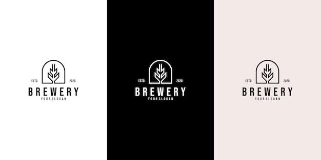 Design moderno del logo malt per ale beer brewery