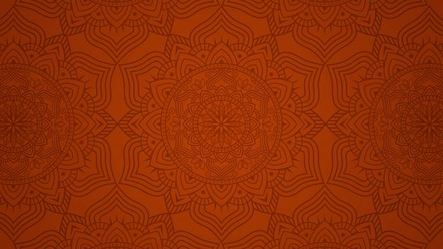Fondo moderno della mandala con il modello floreale etnico senza cuciture