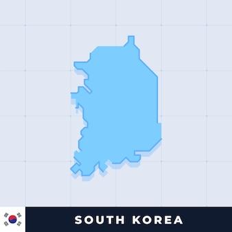 Design moderno della mappa della corea del sud