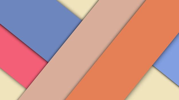 Sfondo di design materiale moderno di fogli di carta con ombre