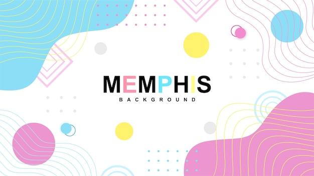 Sfondo mephis moderno con forme minimaliste a