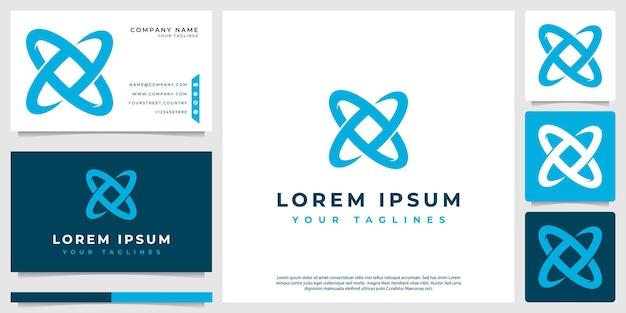 Logo atomico moderno e minimalista