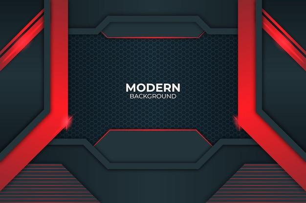 Sfondo rosso bagliore di stile minimalista moderno
