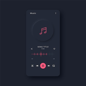 Interfaccia per app di musica moderna