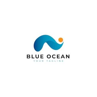 Logo moderno dell'oceano