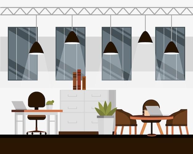 Interiore dell'ufficio moderno