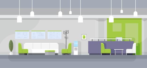Interno di sala d'attesa ufficio moderno