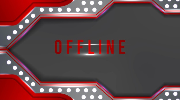 Banner offline moderno con sfondo astratto per contrazione